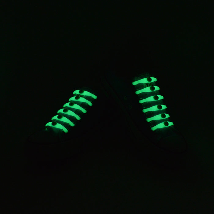 Luminous Lazy Silicone Elastic, Fluorescent Elastic, Tied-Free Shoelaces