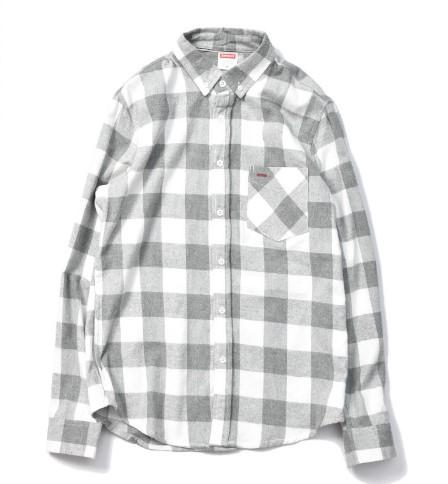 Shirt Japanese Street Retro Blue Plaid Pocket Trends Oxford Linen
