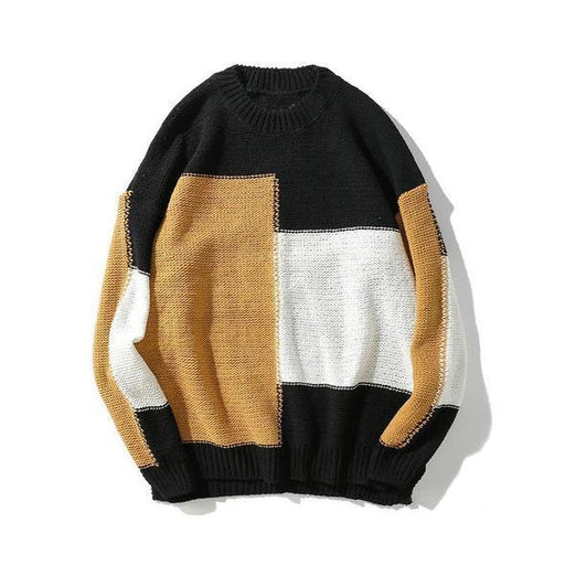 Vintage Color Block Sweater
