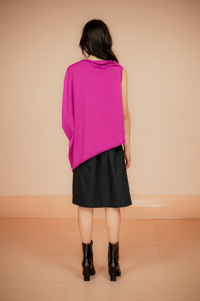 ROPE-T MAGENTA COMPLEX GEOMETRY SLEEVELESS