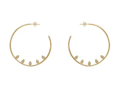 VALENTINA HOOP GOLD EARRINGS BY JUNE AND VALENTINA