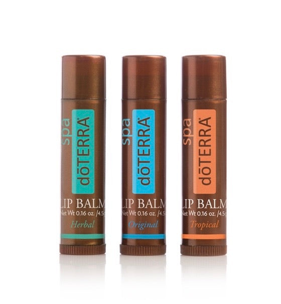 Doterra SPA Lip Balm 3 Pack - Original, Tropical, Herbal - Anahata Green LTD.