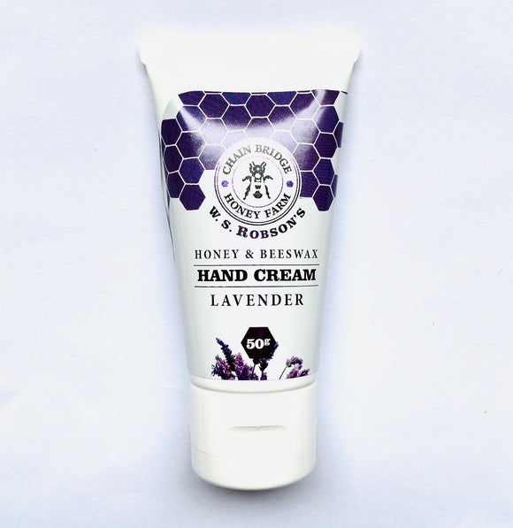 Honey and Beeswax Natural Hand Cream with Lavender 50g (Tube) - Anahata Green