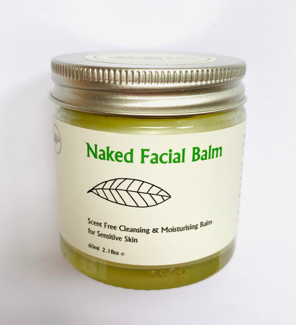 Naked Cleansing & Moisturising Facial Balm for Sensitive Skin 60ml 100% Natural - Anahata Green