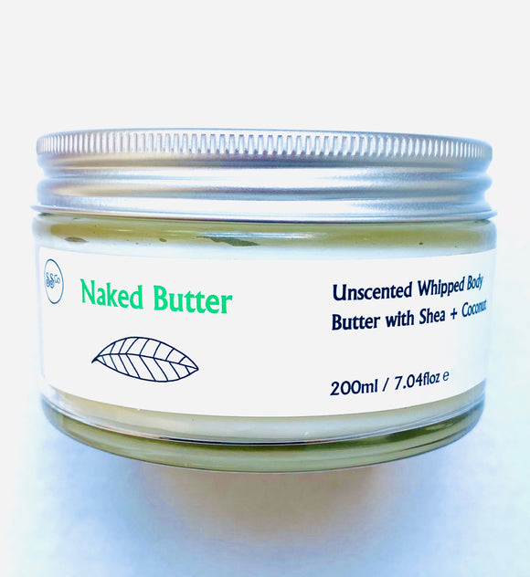 Naked Body Butter - Unscented with Shea & Coconut  200ml - Anahata Green LTD.
