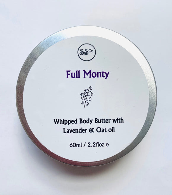 Full Monty Whipped Body Butter with Lavender & Oat Oil 60ml - Anahata Green LTD.