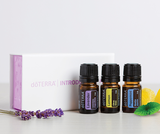 doTERRA Introductory Kit Peppermint Lemon Lavender Essential Oils Box Gift - Anahata Green LTD.