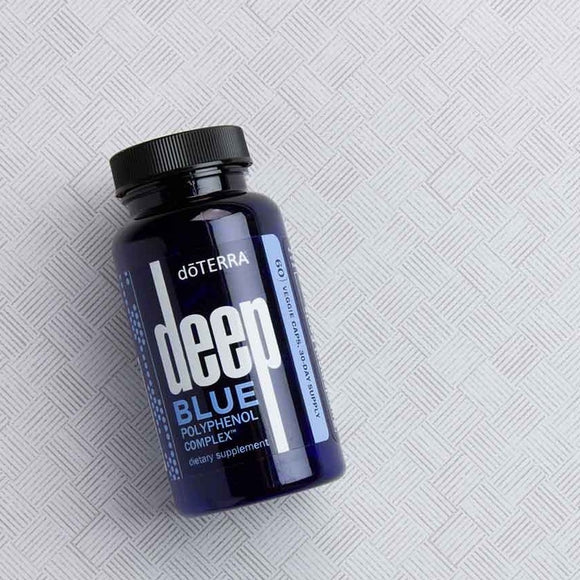 doTERRA Deep Blue Polyphenol Complex® 60 Veggie Caps Dietary Supplement - Anahata Green