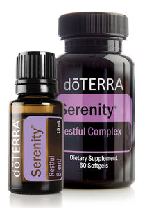 doTERRA Serenity Restful Sleep Essential Oil Blend 15ml + Serenity 60 Softgels - Anahata Green
