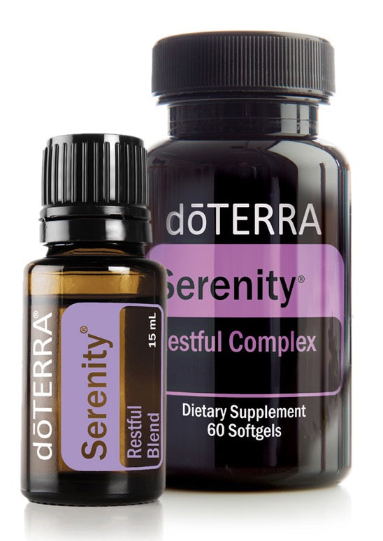 doTERRA Serenity Restful Sleep Essential Oil Blend 15ml + Serenity 60 Softgels - Anahata Green LTD.
