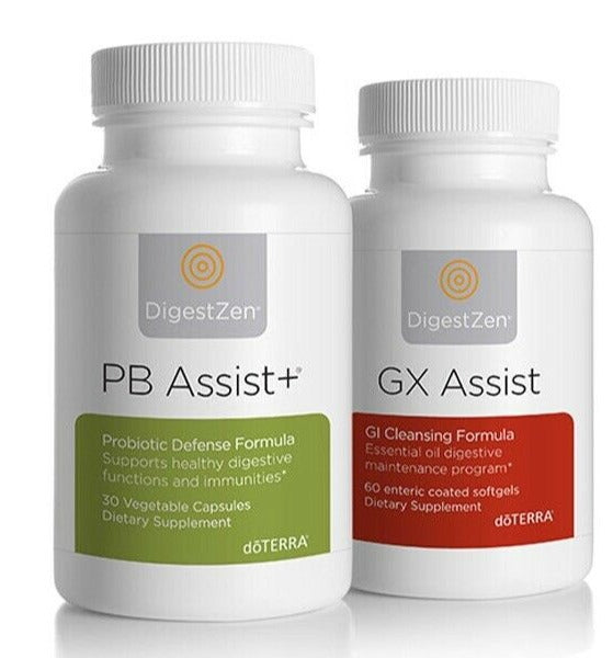 doTerra Bp Assist+ Gx Assist Kit - Cleanse & Renew Healthy Digestion & Immunity - Anahata Green