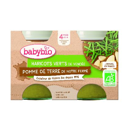 Ppot Pdt Haricots Verts 2X130G Babybio