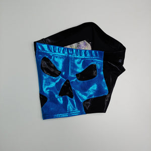 XS- Blue/Black Skull Shorts