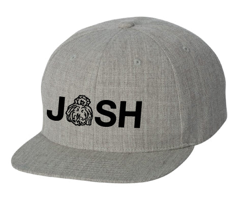 Josh Snapback Hat - Heather Grey 80/20 Acrylic/Wool blend