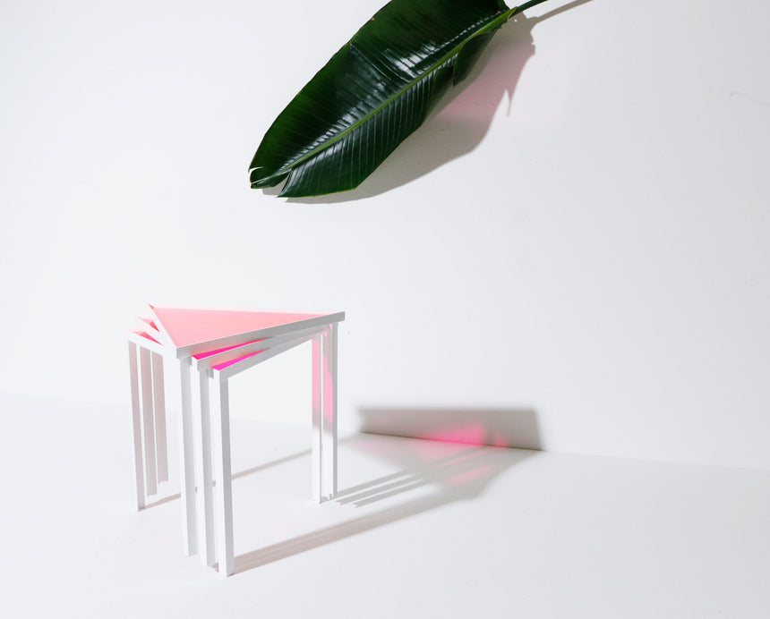 Pink Stacking Tables