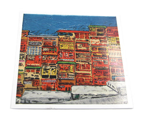 "Greetings Cards ""Hong Kong Street art Graham street"""