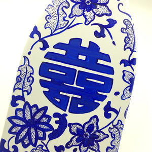 Decorative Paddle - Porcelain Double hapiness