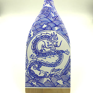 Decorative Paddle - Porcelain Dragon