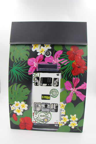 Modern Style Mailbox (Black) HK Tram and Flowers