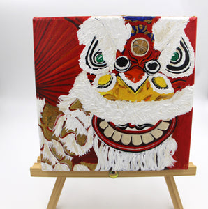 "Acrylic Painting ""Lion Dance"""