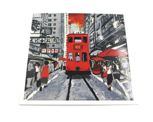 "Greetings Cards ""Hong Kong Trams road """