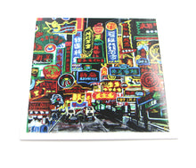 "Load image into Gallery viewer, Greetings Cards ""Hong Kong Neon signs street"""