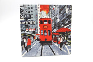 Hong Kong Tram (Red) - Wooden Print