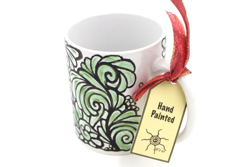 Handpainted Mug : Minty fresh