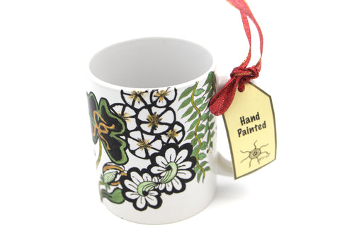 Handpainted Mug : Flowers frenzy