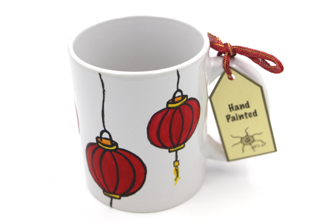 Handpainted Mug : Lanterns