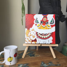 "Load image into Gallery viewer, Acrylic Painting ""Lion Dance"""