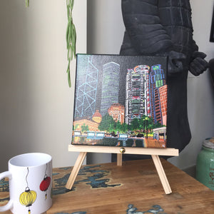 "Acrylic Painting ""Statue Square"""