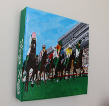 "Load image into Gallery viewer, Acrylic Painting ""Horse Race"""