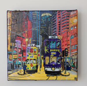 "Acrylic Painting ""Tram road"""