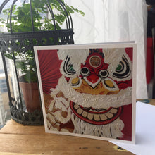 "Load image into Gallery viewer, Greetings Cards ""Chinese Lion dance"""