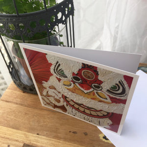 "Greetings Cards ""Chinese Lion dance"""