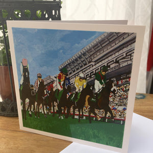 "Greetings Cards ""Happy Valley Horse course"""