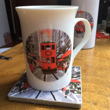 Load image into Gallery viewer, Hongkong Tram road Bone China Mug Printed