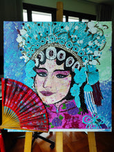 "Load image into Gallery viewer, Acrylic Painting ""Opera Cantonese in Hong Kong"""