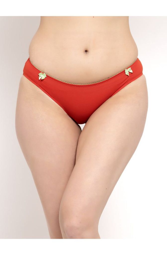 Shop For Pista Carrot Red Bikini Brief 2 PC Pack Online