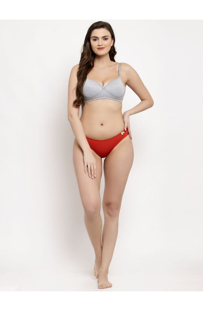 Buy Prag Pista Carrot Red Bikini Brief 2 PC Pack