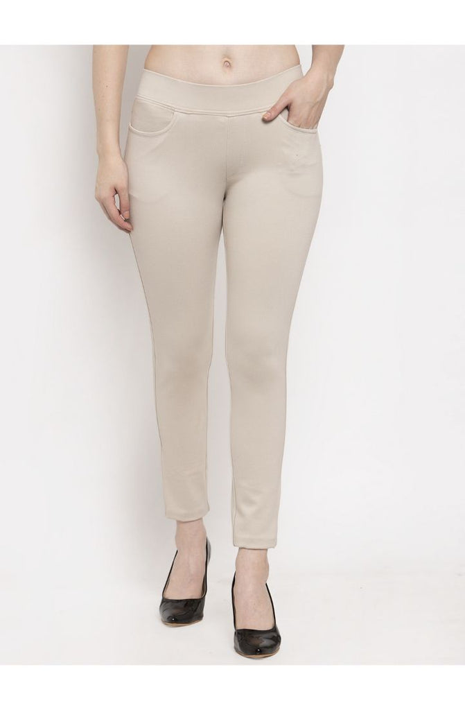 Narrow Fit Trouser Pant Beige