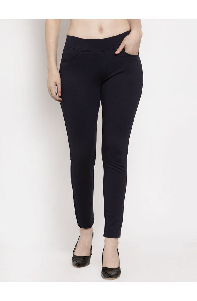 Navy ladies pants