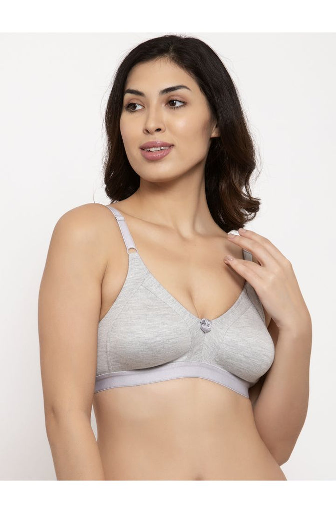 Grey Minimizer Bra With Full Cover Support