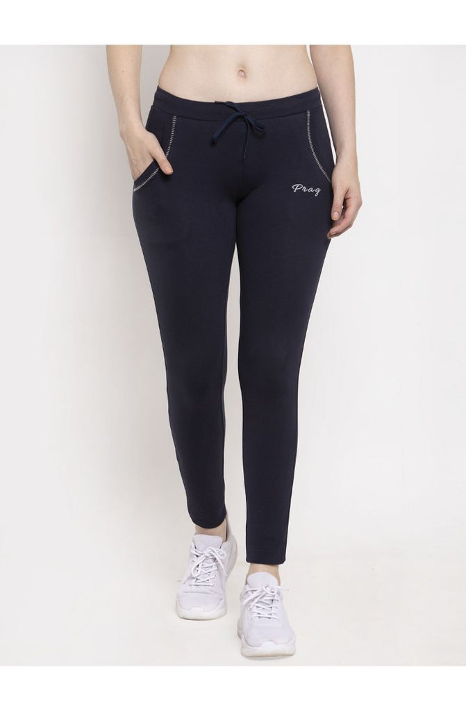 Navy Cotton Stretch Yoga Pant