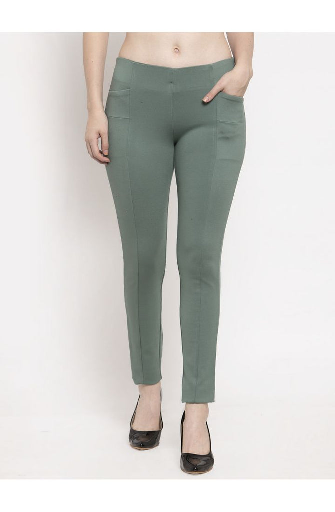 Green trouser pants