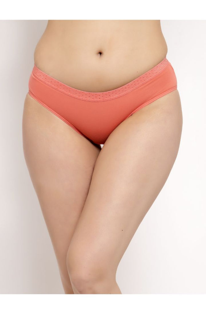 Shop for Peach Hipster Brief 3 PC Pack Solid Colors