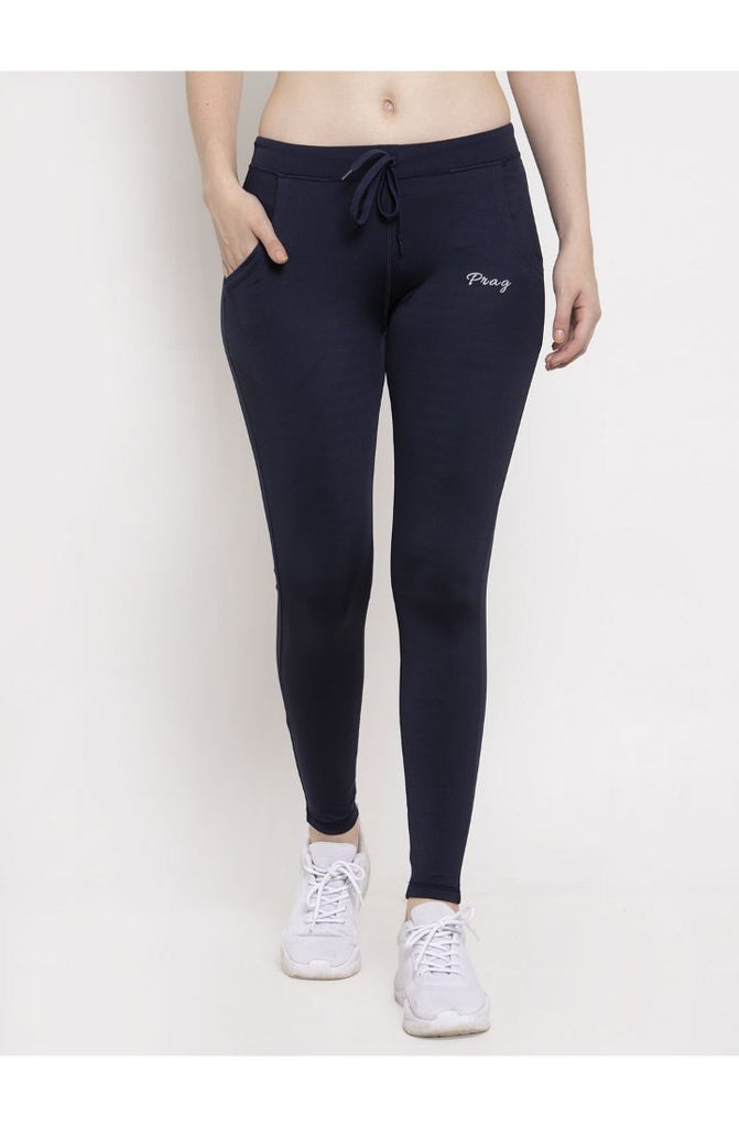 Navy yoga track pants