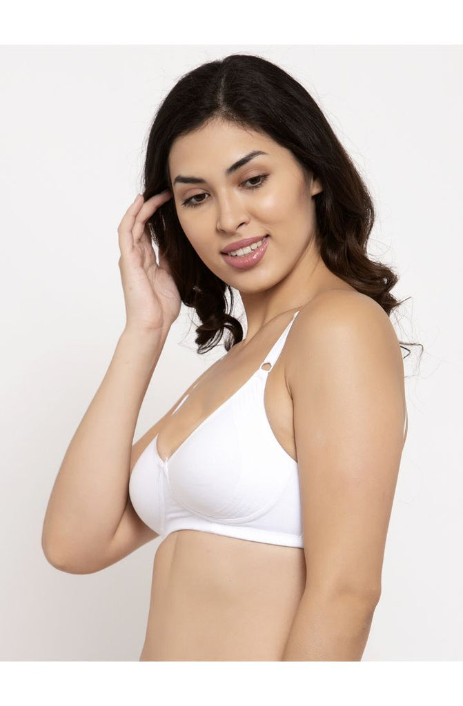 Buy White Encircled Bra with Side Support