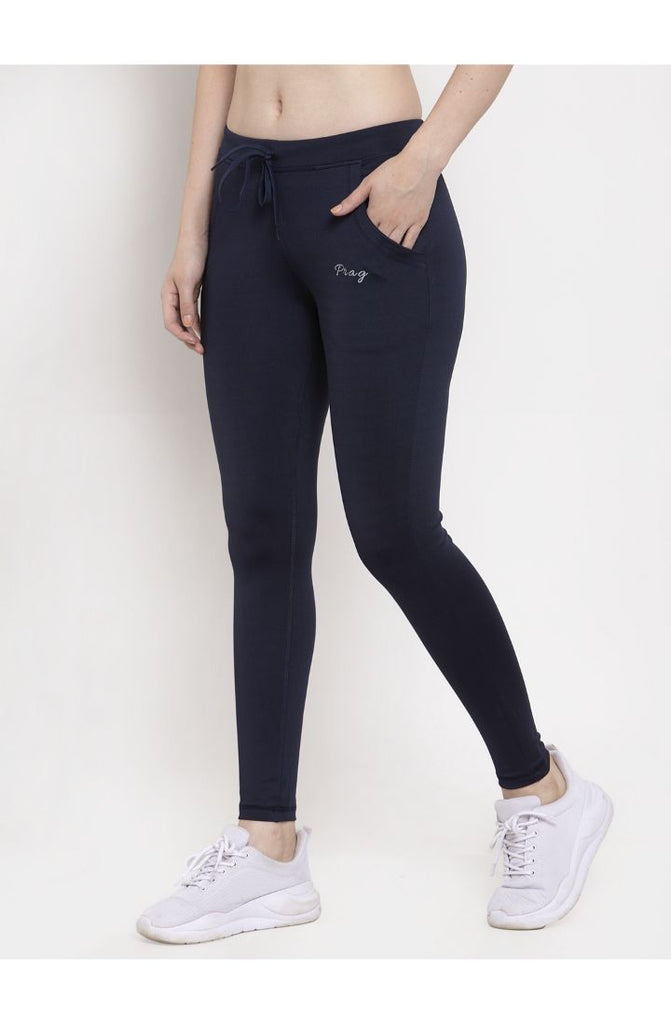 Navy yoga track pants for women